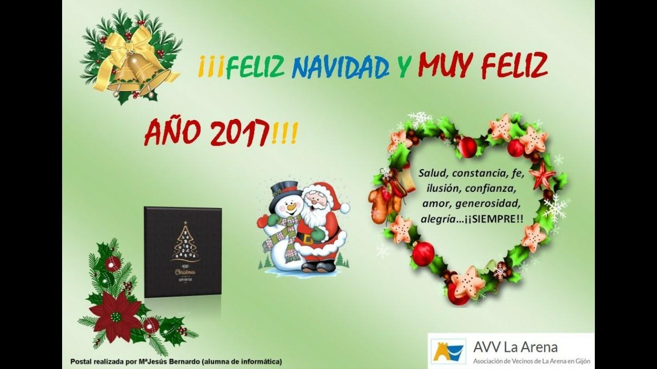 Postal Navidad creada por Mª Jesús Bernardo